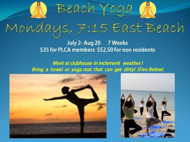 PLCA beach yoga