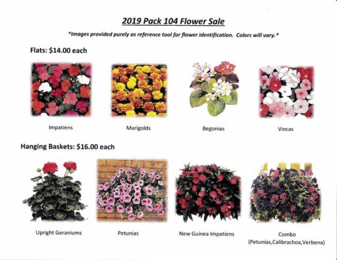 cub scout flower sale
